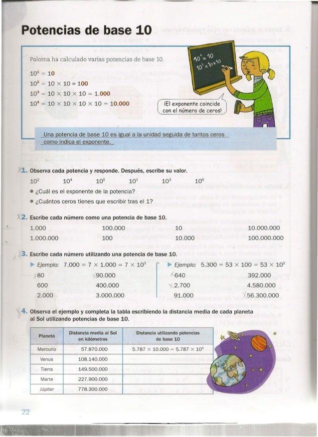 Matematicas 6º Primaría
