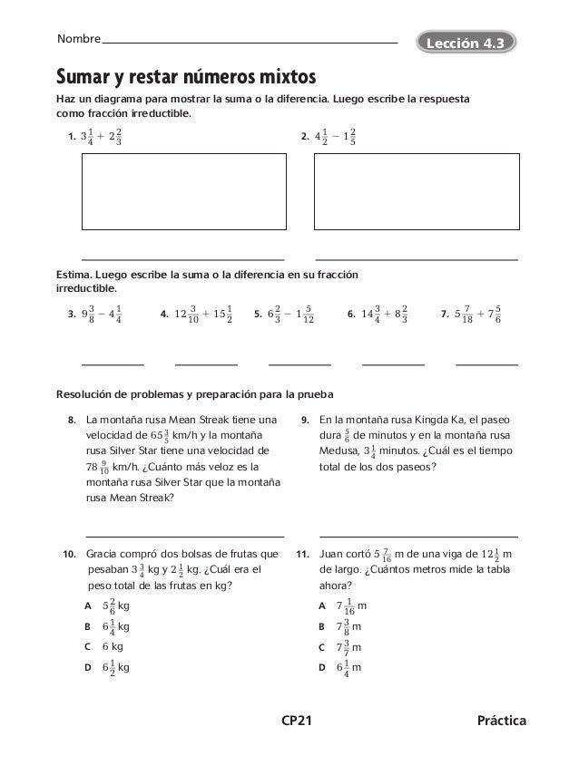 Matematicas 6º cuadernillo de ejercicios