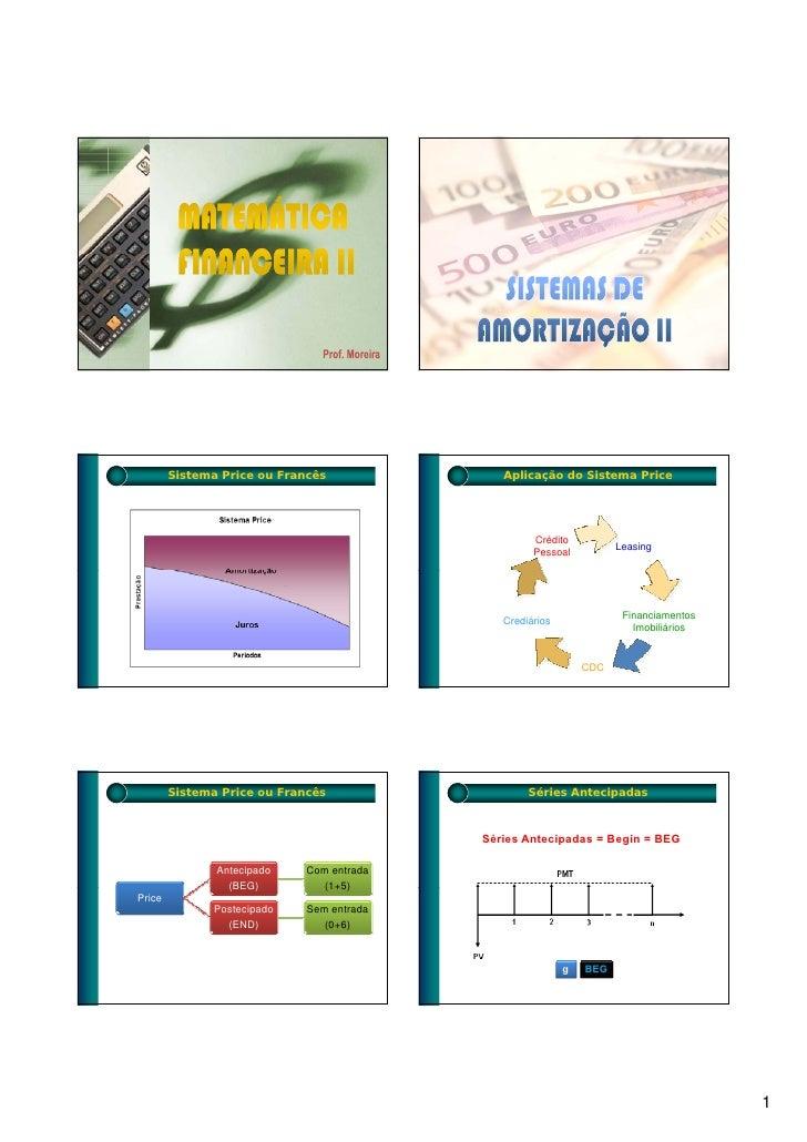 Sistema Price ou Francês              Aplicação do Sistema Price                                                         C...