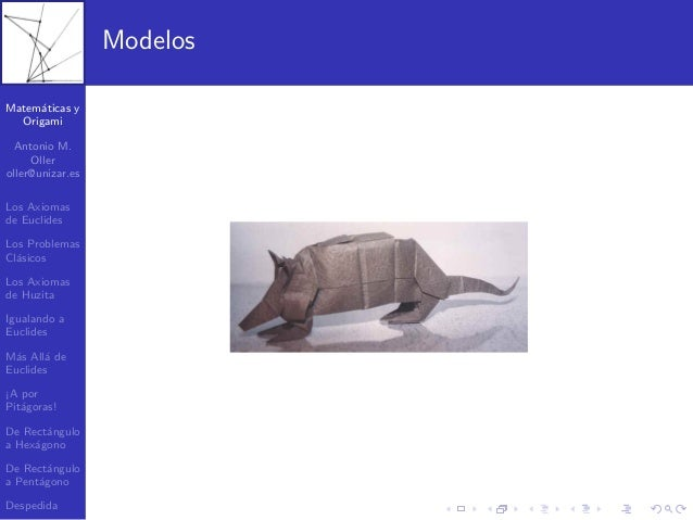 Matematica y origami Slide 2