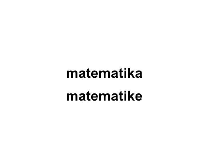 matematikamatematike