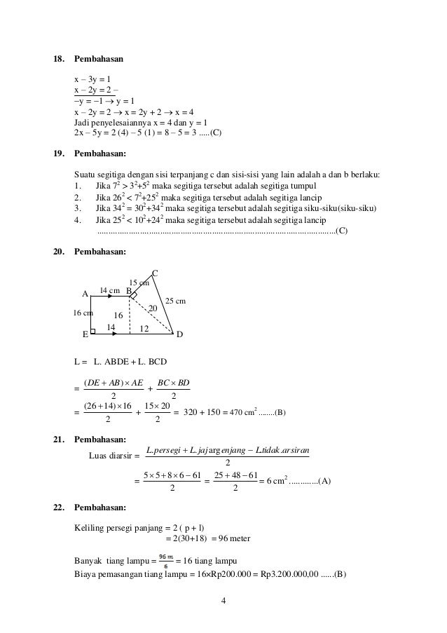 Soal Un Matematika 2016 Online Soal Pengayaan Matematika