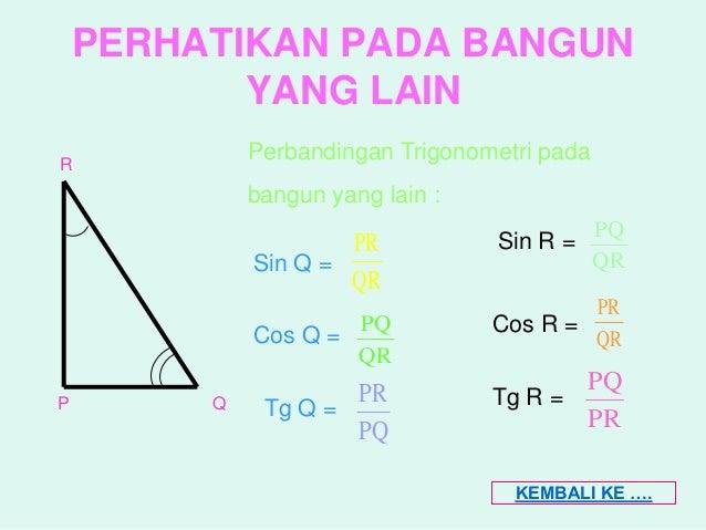 Matematika Perbandingan Trigonometri Segitiga Siku Siku