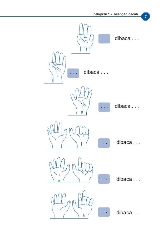 Matematika Kelas  Mewarnai Gambar Jari