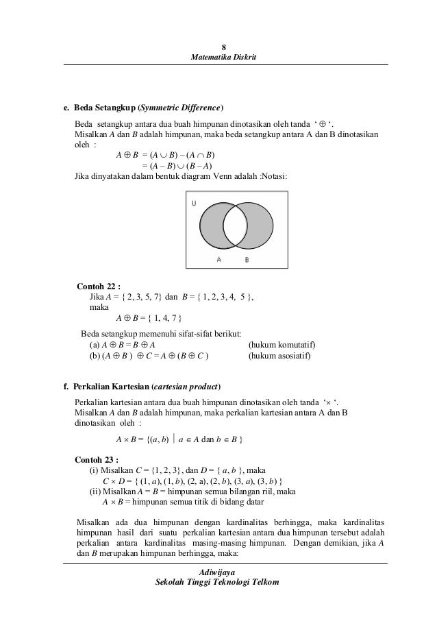 Diagram venn beda setangkup auto electrical wiring diagram matematika diskrit adiwijaya rh slideshare net contoh diagram venn beda setangkup venn diagram template ccuart Image collections