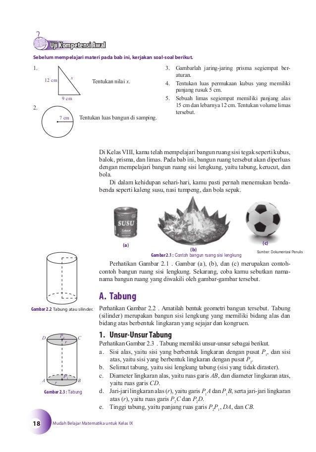 Contoh Soal Volume Tabung Kelas 9