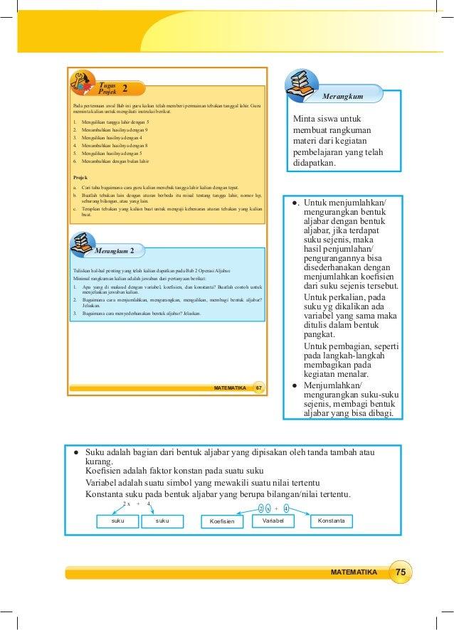 Soal Aljabar Kelas 8 Dan Jawabannya Soal Dan Pembahasan Operasi Hitung Pada Bentuk Aljabar Part