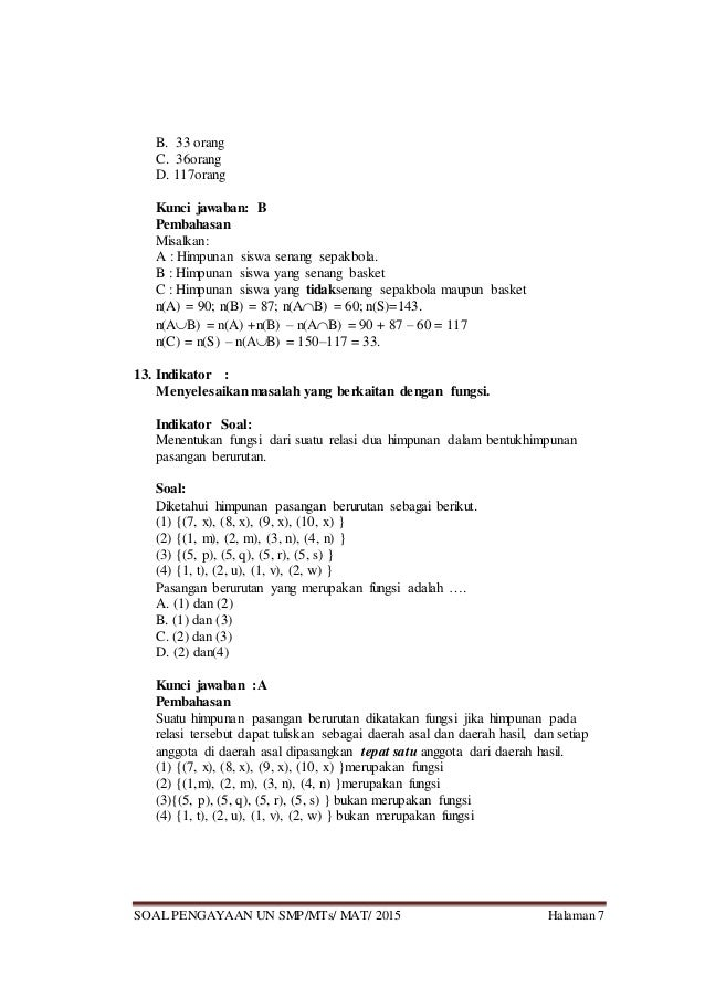 Try Outmatematika Smp Paket 3 2015