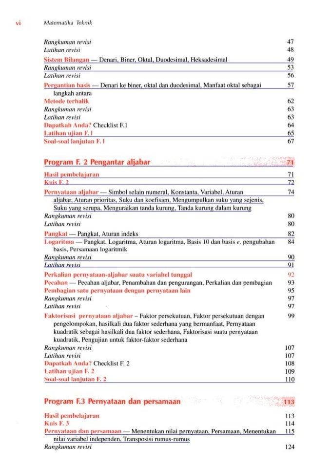 Matematika Teknik [k.a.stroud 1st ed] Slide 3