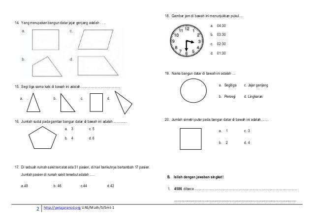 Matematika Uas Smt 1 Kls 5