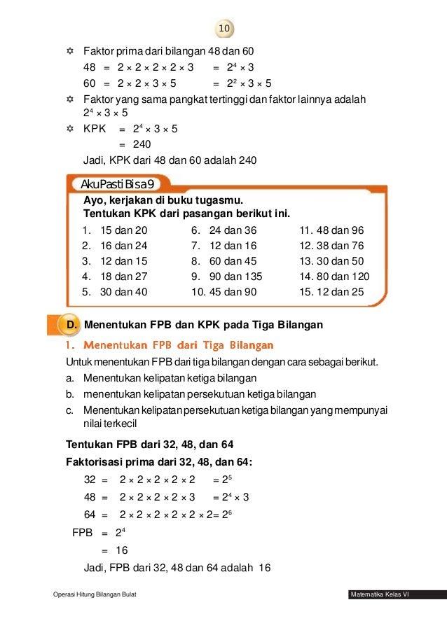 Matematika untuk kelas 6