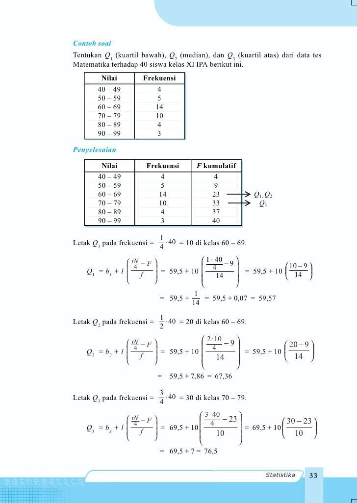 Matematika untuk sma dan ma kelas xi program ipa statistika 35 42 ccuart Image collections