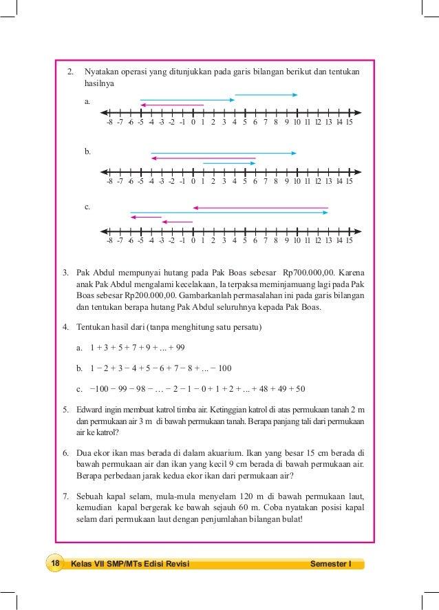 Buku matematika kelas vii smp kurikulum 2013 ccuart Gallery