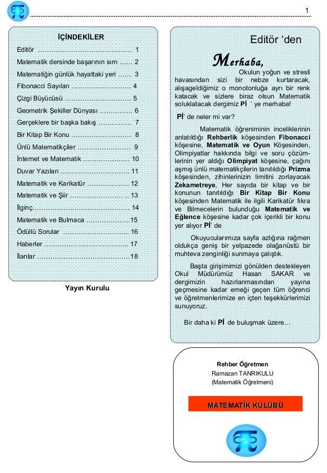 Matematik Dergisi Ornegi