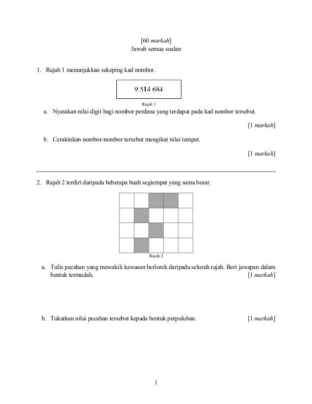 Upsr 2017 Matematik Kertas 2