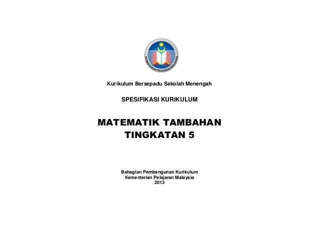 Hsp Matematik Tambahan Tingkatan 5