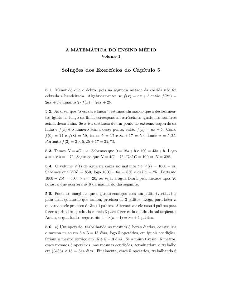 ´                ´           A MATEMATICA DO ENSINO MEDIO                                Volume 1         Solu¸oes dos Exe...