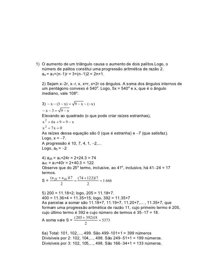 A MATEMÁTICA DO ENSINO MÉDIO, Vol. 2                                                                     Soluções1.1 Progr...