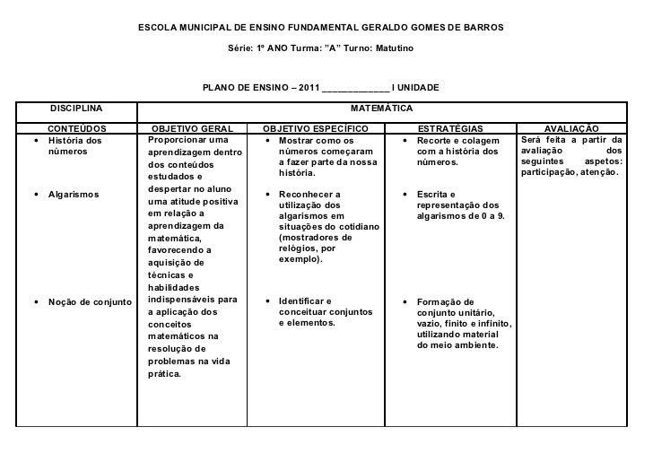 ESCOLA MUNICIPAL DE ENSINO FUNDAMENTAL GERALDO GOMES DE BARROS                                         Série: 1º ANO Turma...