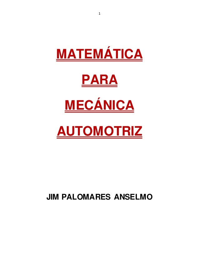 Matemática para Mecánica Automotriz