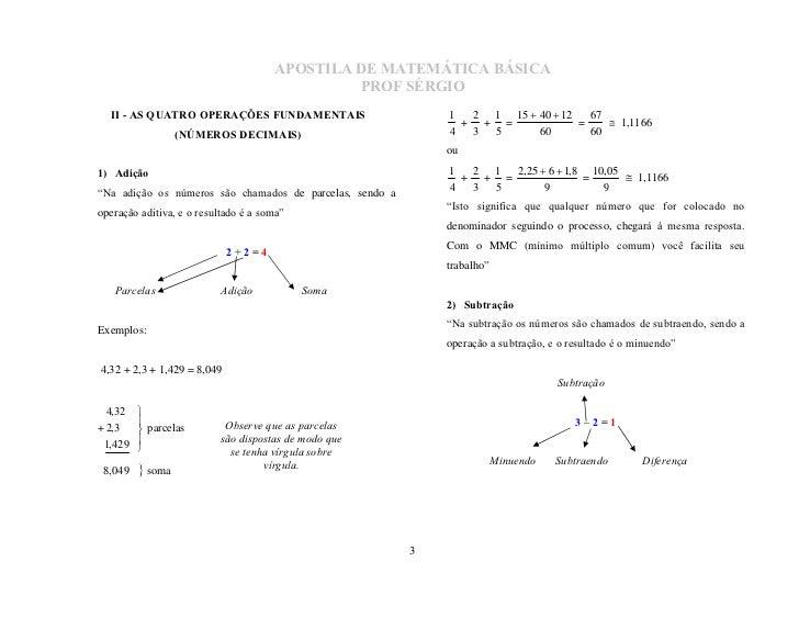 MatemáTica BáSica Slide 3