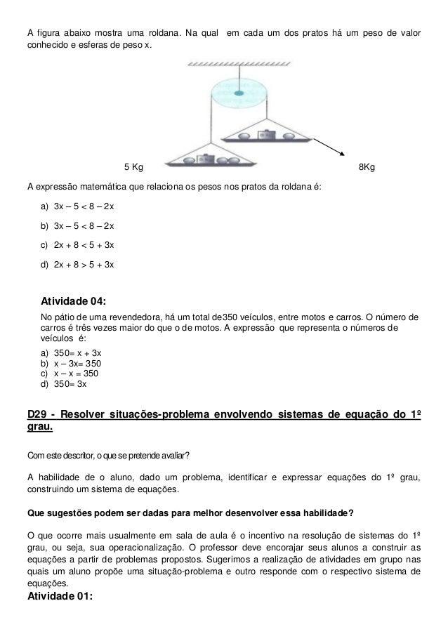 Excepcional matemática sugestão de atividades do cbc MS23
