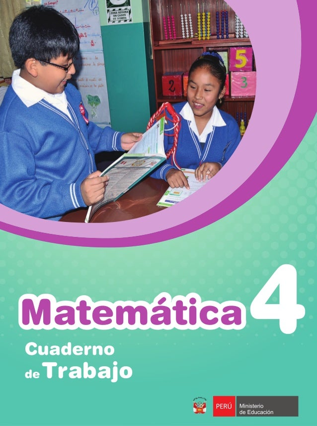Matemática cuaderno de trabajo 4