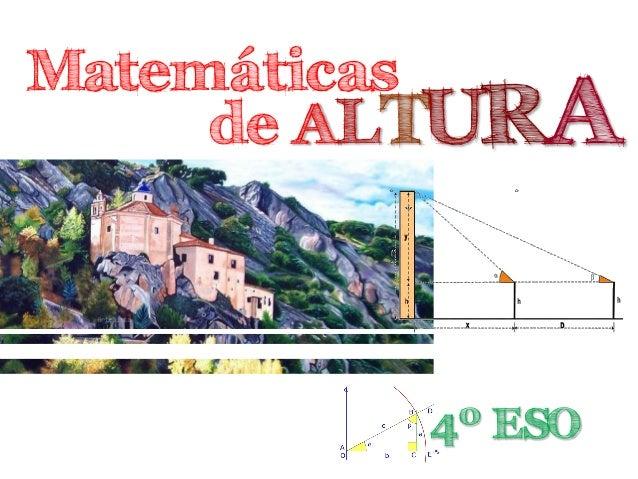 Matemáticas de ALTURA 4º ESO