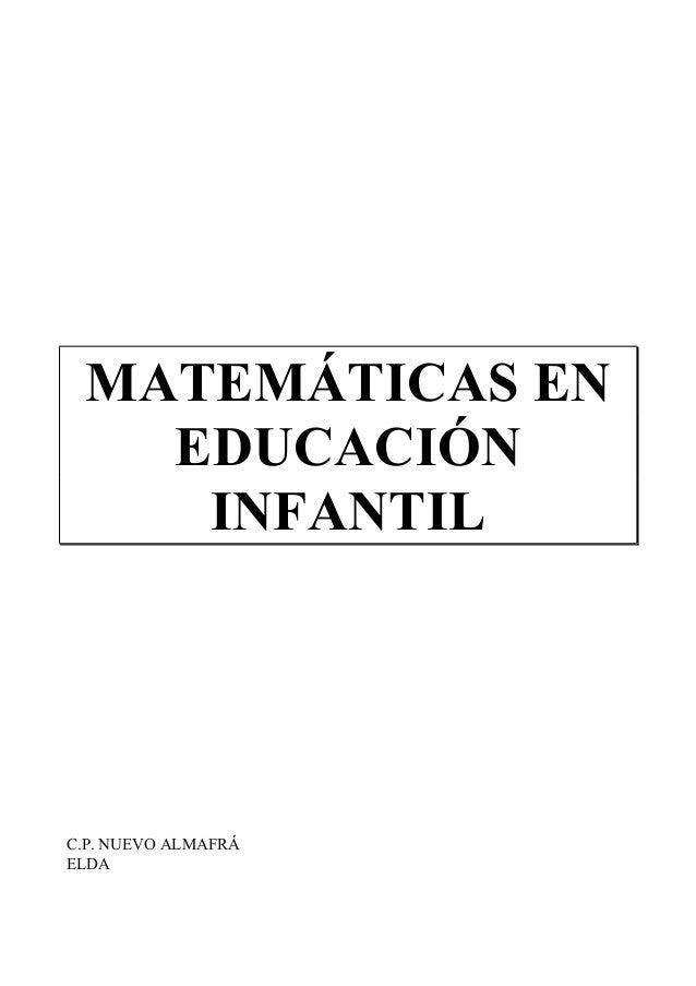 MATEMÁTICAS EN EDUCACIÓN INFANTIL C.P. NUEVO ALMAFRÁ ELDA