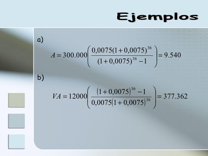 Ejemplos a) b)