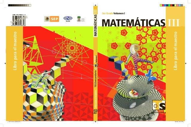 3erGrado VolumenI SUSTITUIR matemáticaS 3er Grado Volumen I III IIImatemáticaSLibroparaelmaestro Libroparaelmaestro Librop...