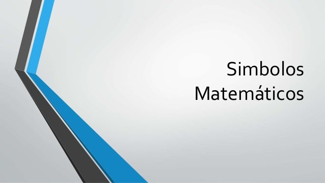 Simbolos Matemáticos