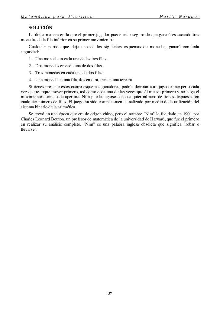Matemáticas para divertirse (Martin Gardner)