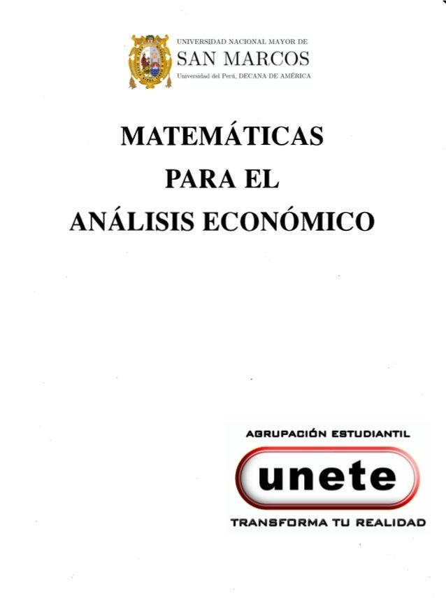 Matemáticas para el análisis económico   hammond & knut (1998)