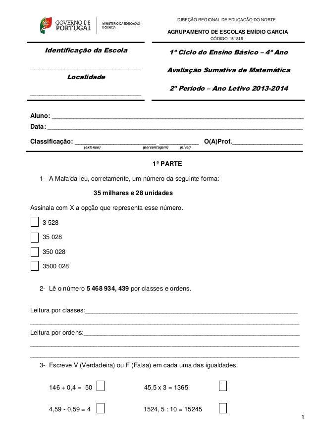 1 DIREÇÃO REGIONAL DE EDUCAÇÃO DO NORTE AGRUPAMENTO DE ESCOLAS EMÍDIO GARCIA CÓDIGO 151816 Aluno: ________________________...