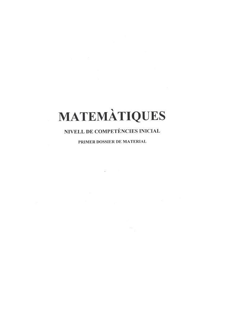 Matemàtiques inicial