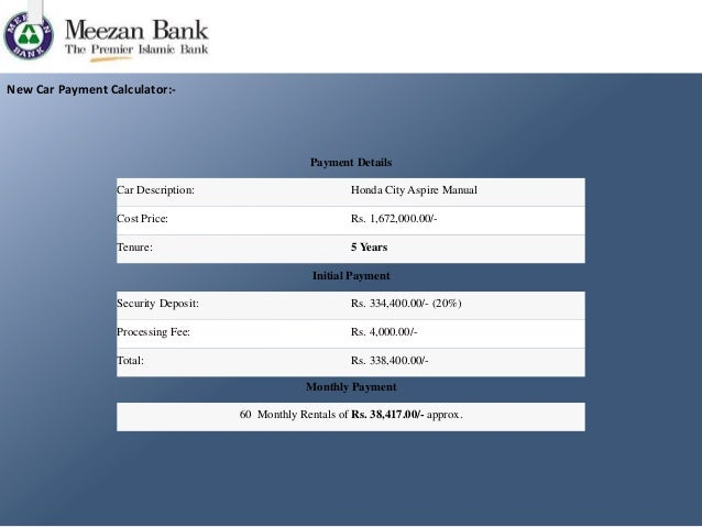 Meezan bank and bank alfalah car finance comparison.