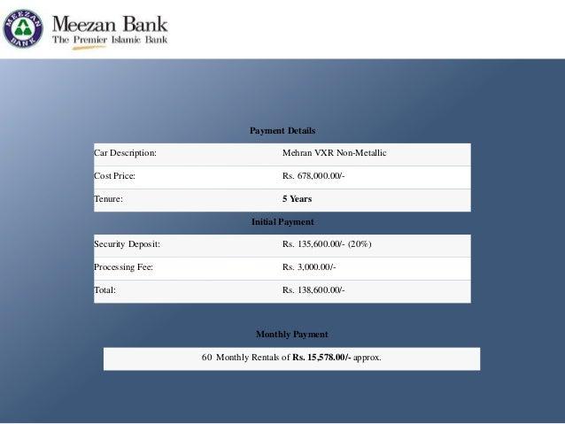 Bank alfalah pakistan car ijarah calculator 7