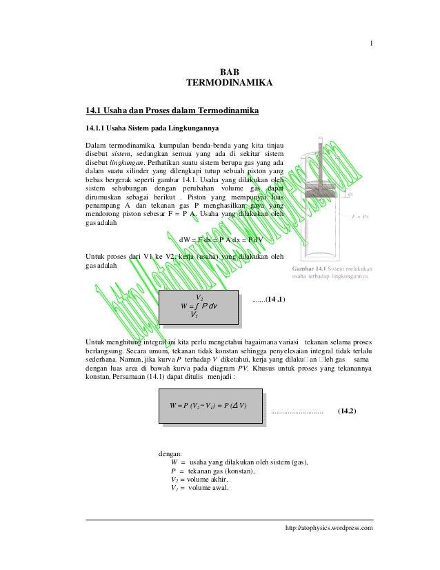 Termodinamika 1 httpatophysicswordpress bab termodinamika 141 usaha dan proses ccuart Images