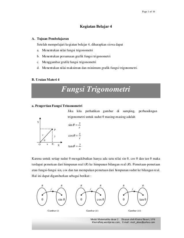Materi Fungsi Dan Grafik Trigonometri