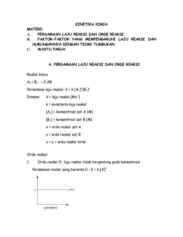 Materi Kinetika Kimia