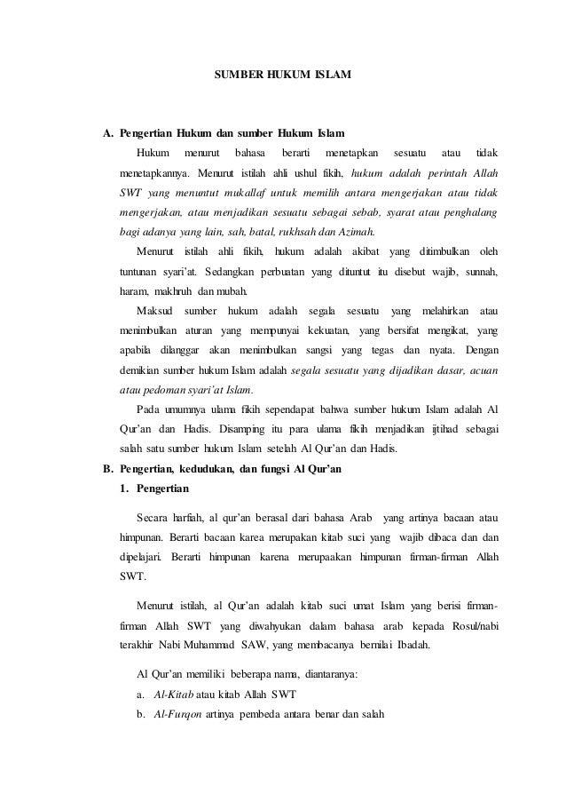 Materi Sumber Hukum Islam