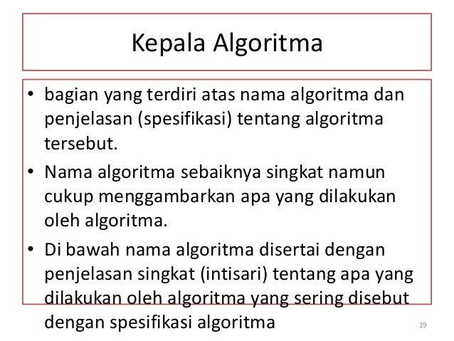 Materi 2 Pengertian Dasar Algoritma
