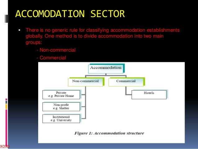 XOXO  ACCOMODATION SECTOR   There is no generic rule for classifying accommodation establishments globally. One method is...