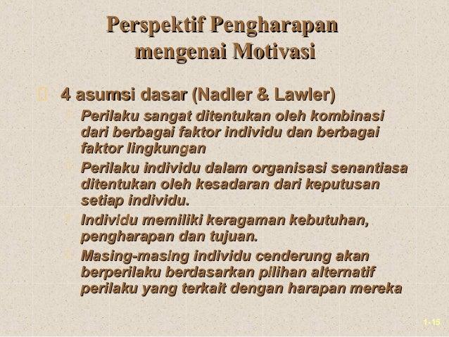 1-15Perspektif PengharapanPerspektif Pengharapanmengenai Motivasimengenai Motivasi4 asumsi dasar (Nadler & Lawler)4 asumsi...