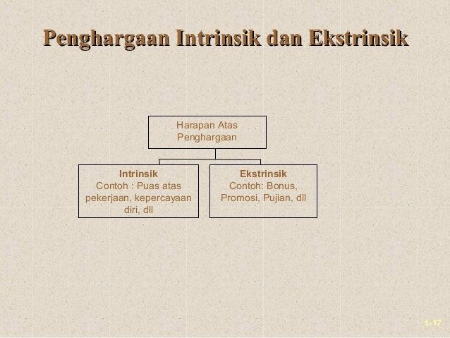 1-17Penghargaan Intrinsik dan EkstrinsikPenghargaan Intrinsik dan EkstrinsikHarapan AtasPenghargaanIntrinsikContoh : Puas ...