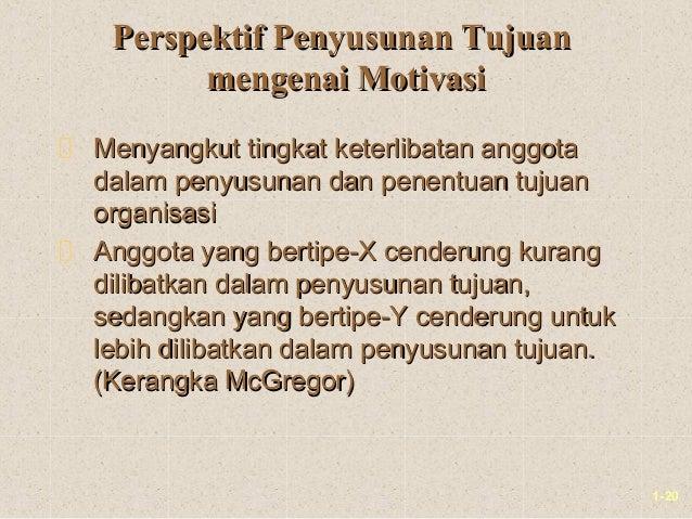 1-20Perspektif Penyusunan TujuanPerspektif Penyusunan Tujuanmengenai Motivasimengenai MotivasiMenyangkut tingkat keterliba...
