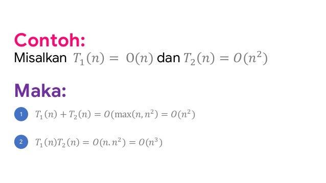 Analisis Algoritma Teorema Notasi Asimptotik