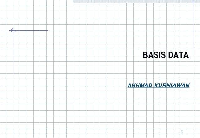 BASIS DATAAHHMAD KURNIAWAN             1