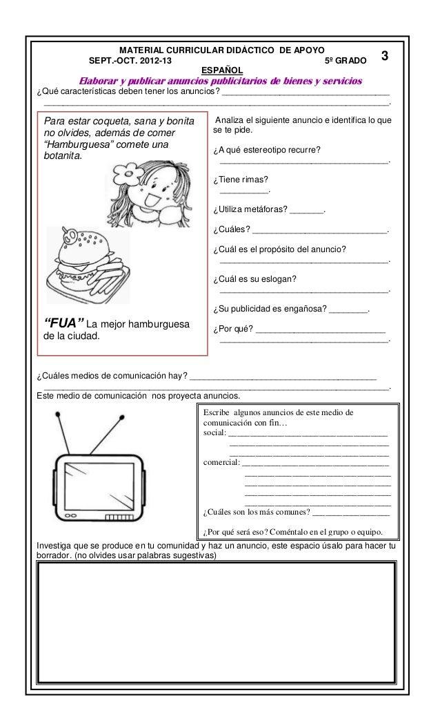 Material Curricular Bloque 1 5c2b0 Grado 2012 2013 Seech 1